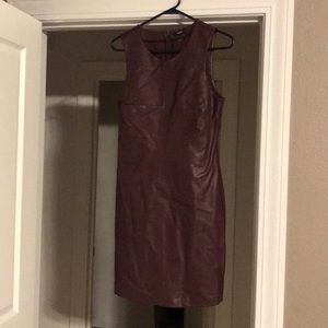 Real leather dress, size M!